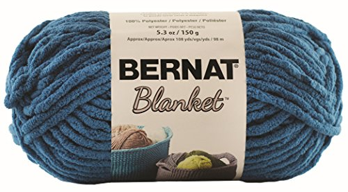 Bernat Blanket SB Yarn - (6) Super Bulky Gauge - 5.3oz - Dark Teal - Machine Wash & - Bernat Crochet Patterns