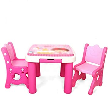 Juego de sillas para mesa de actividades Mesa de estudio y silla ...