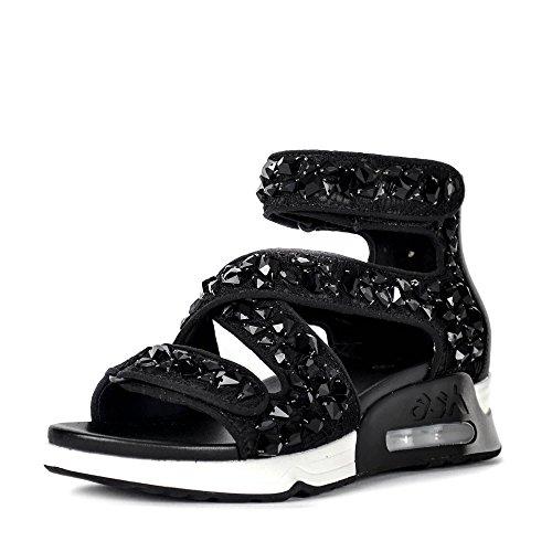Stones Lace Trainer Sandals Black amp; Black Lips Ash Satin Gemstones XxWFZw5Pq