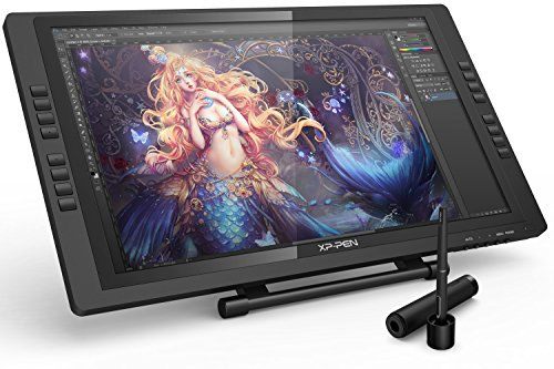 XP-PEN Artist22E Pro Drawing Pen Display Graphic Monitor IPS Monitor 8192 Level Pen Pressure Drawing Pen Tablet Dual Monitor with 16 Express Keys and Adjustable Stand 21.5 Inch (Best Pen Tablet For Animation)