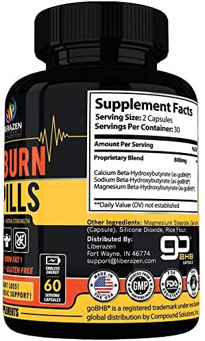 Keto Burn Diet Pills - Instant Ketosis BHB Supplement for Women and Men - Advanced Weight Loss, Energy & Focus - 60 Capsules 4