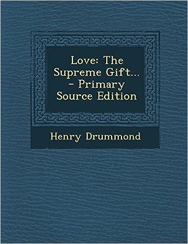 Book Love: The Supreme Gift...