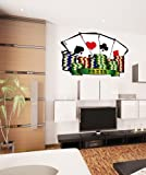 Printed Wall Graphic Sticker Poker Cards Color size 36inX50in item JH281s