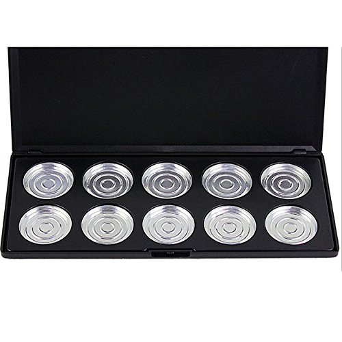 NEW10 Piece Pans Empty Eye Shadow Eyeshadow Firm Palette Case Makeup Tool