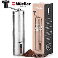 Mueller Austria Manual Coffee Grinder, W...
