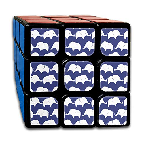 Partrest Blue Elephant Rubik Cube Super-Durable with Vivid Colors 5.5x5.5 Cube Easy Turning and Smooth Play Magic Cube Puzzle -