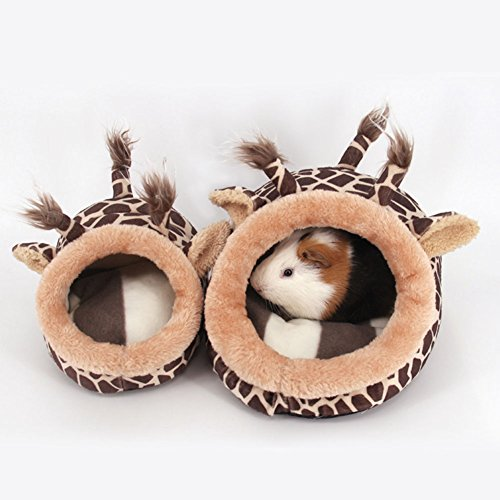 high-quality PyLios(TM) Cute Small Pet Hamster House Bed Hammock Nest Animal Pattern Warm Plush House for Small Dog Hamster Pets Machine Wash