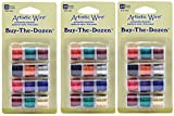 Artistic Wire 20-Gauge Buy-The-Dozen, Various Colors, 12-Pack (3 Pack)