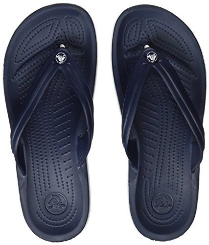 Crocs Unisex Crocband Flip-Flop, Navy, 9 US Men / 11 US Women by Crocs