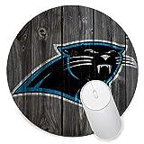 Round Gaming Mouse Pad Creative Custom Non-Slip Mouse Mat-Carolina Panthers