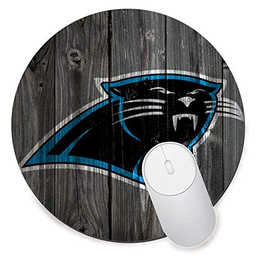 Round Gaming Mouse Pad Creative Custom Non-Slip Mouse Mat-Carolina Panthers -