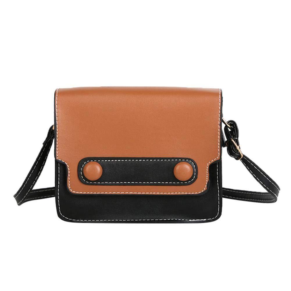 Jocestyle Women PU Leather Messenger Handbags Satchel Flap Crossbody Shoulder Bags