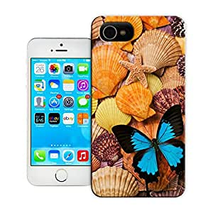 Unique Phone Case Blue Butterfly and Sea Shells Hard Cover for 5.5 inches iphone 6 plus cases-buythecase