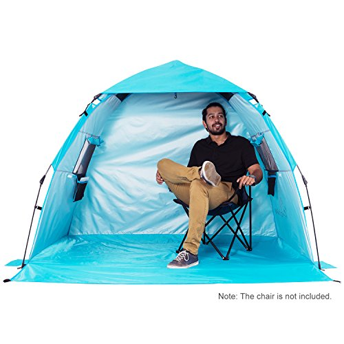 (WolfWise Sun Shelter Tent Instant Easy Pop Up Beach Umbrella Sport Automatic Instant Portable Outdoors Quick Beach)