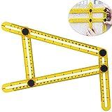 WElinks Angleizer Template Measurement Tool, Angle Ruler,Multi-Angle Measuring Ruler - Angleizer Tile & Flooring Template Measure Ruler and Layout Tools for Handymen, Builders, Craftsmen,Carpenter