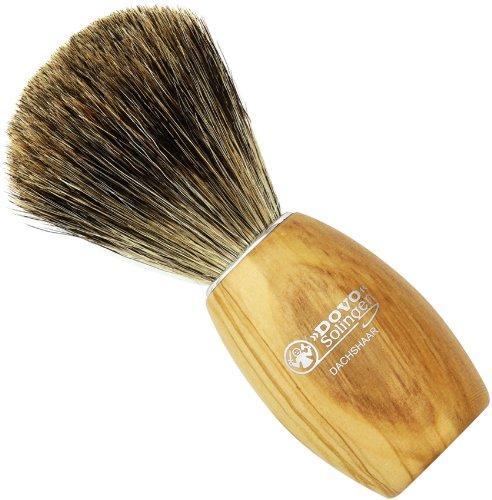 Dovo Shaving Brush, Olive Wood Handle