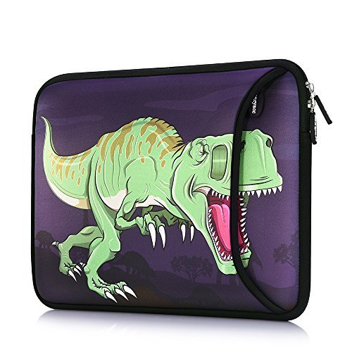 Sancyacc Laptop Sleeve Bag for 15-15.6inch,Water-resistant Fabric laptop Case with Pocket for Acer Aspire, Predator, Toshiba Satellite, Dell Inspiron, Chromebook Notebook(Dino)