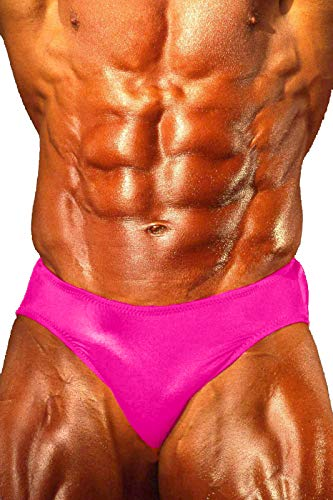 - Andreas Cahling Bodybuilding Physique Classic Posing Trunks Swim Suit Briefs (Hot Pink, L (32