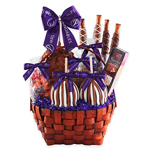 Mrs. Prindable's Grand Signature Deluxe Caramel Apple Basket Gift Set