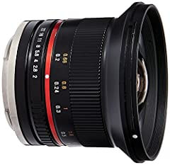 The Samyang 12mm f2.0 NCS CS Ultra Wide Angle Lens is designed specifically for mirrorless cameras. Its 35mm focal length equivalency for Sony E- Mount (NEX) Cameras is 18mm. With an f2.0 maximum aperture, it is particularly effective in low-...