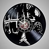 Star Wars – Vinyl Record Wall Clock – Get unique living room wall decor – Gift ideas for friends, men and women, teens, children – Unique Art Design of Space World For Sale