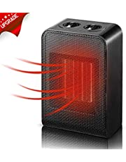 KEYS Mini Heater, Ceramic Fan Heater 1000 W Portable Electric Fan Heater with Adjustable Temperature for Home/Office/Bedroom, Black …