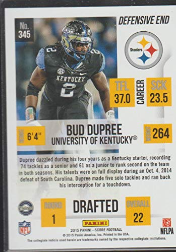 f7b2baa53 Amazon.com  2015 Score Bud Dupree Steelers Rookie Football Card  345   Collectibles   Fine Art