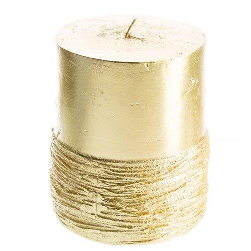 st Gold Pillar Candle (Half Pillar Candle)