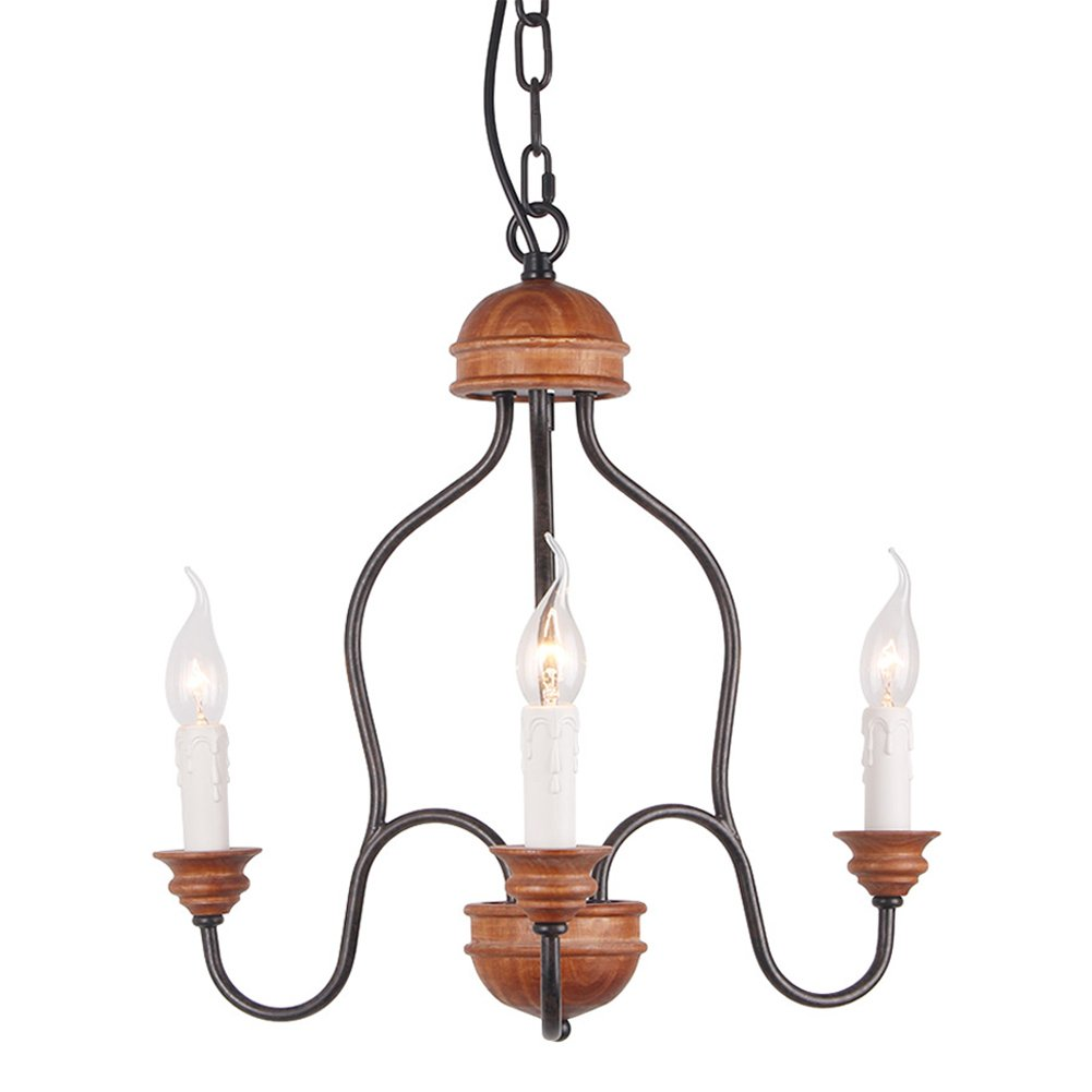 Anmire Island Pendant Light Industrial Rustic Chandelier and Retro Antique Vintage Ceiling Lighting Fixtures Hanging with Edison Decorative Lamp Luminaire for Kitchen Dining Room Living Room(3 lights)