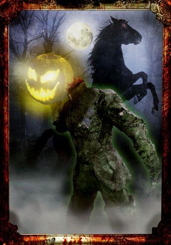 [Morbid Enterprises - Light Up Horseman Portrait] (Headless Woman Halloween Costume)
