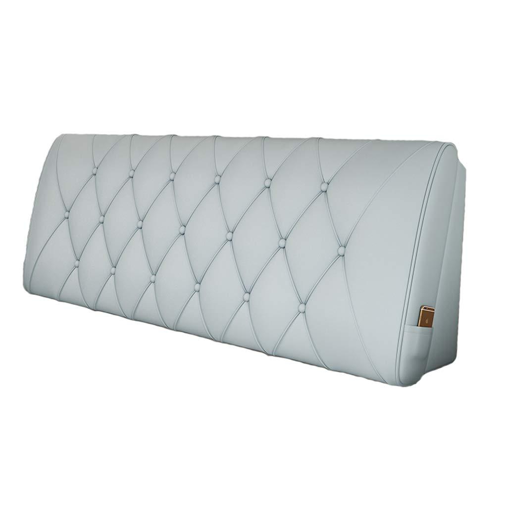 バッククッションベッドサイドグレーブルー腰部サポートクッション畳枕革表面シンプルモダン (色 : Bedside, サイズ さいず : 200X10X58cm) B07KN3F6W7 Bedside 200X10X58cm
