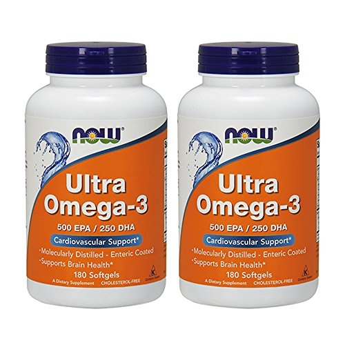 Now Foods Ultra Omega 3, Fish Oil Soft-gels, 180 X 2 (360) ()