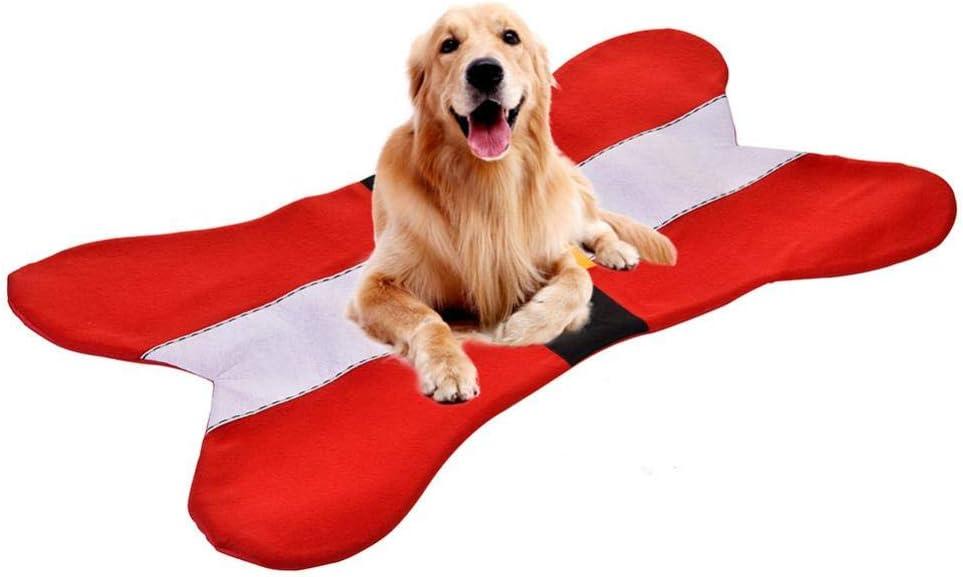 WXG - Alfombrilla para huesos de mascotas, apta para perros pequeños y medianos, cómoda y duradera, Rojo, other
