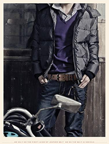 QMGLBG Ceinture homme Boucle automatique en cuir ceinture intérieure sans boucle