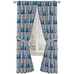 "Thomas the Tank Engine Tech 84"" Decorative Curtain/Drapes 4-Piece Set (2 Panels, 2 Tiebacks)"