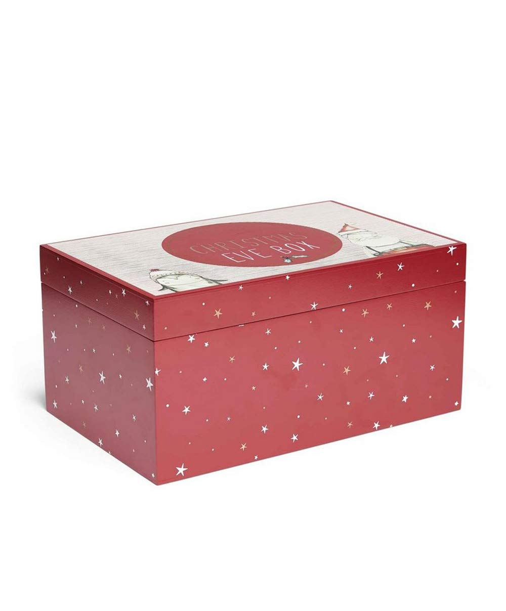 Mamas & Papas Luxury Red Wooden Painted Christmas Eve Gift Keepsake Box Katies Playpen® - Baby Best Buys