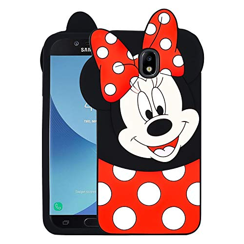 Allsky Case for Samsung Galaxy J7 2018/J7 Refine/J7 Star 2018/J7 Crown,Cartoon Soft Silicone Cute 3D Cool Cover,Kawaii Unique Kids Girls Teens Animal Character Cases for Galaxy J7 2018 Minnie Mouse