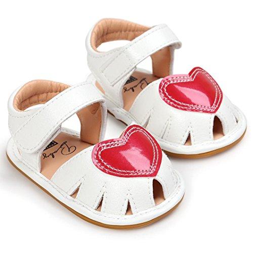 Hunpta Baby Mädchen Sandalen Schuh Casual Schuhe Sneaker Anti Slip Soft Sole Kleinkind (Alter: 12 ~ 18 Monate, Hot Pink) Weiß