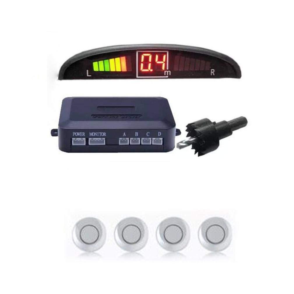 Sonmer Car Reversing Parking Radar Sensor, With 4 Sensors Audio Buzzer Sound Alarm (Silver) by Sonmer (Image #1)