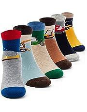 Boys Wool Socks Kids Winter Warm Socks Thermal Crew Socks for Boys 6 Pairs Monsters