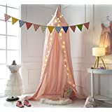 Truedays Dome Princess Bed Canopy Mosquito Net Children Room Decorate (Pink)