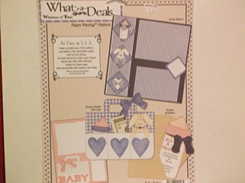 Windows of Time What-a-deal *Baby Boy* Paper Piecing Pattern