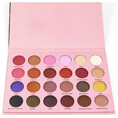 Inkach Eyeshadow Palette - 24 Colors Makeup Palette Set - Lu