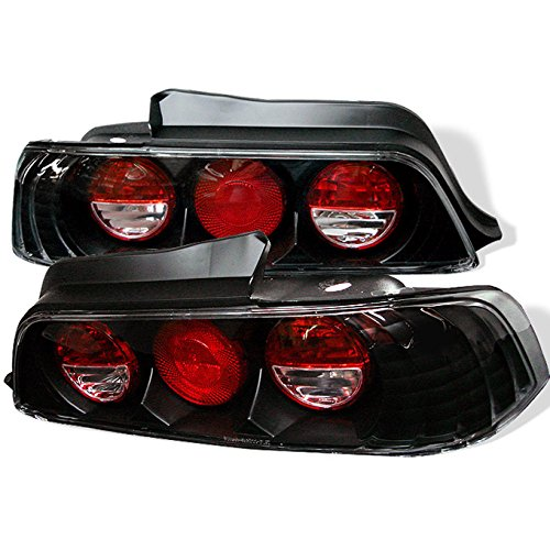 Honda Headlights Jdm Prelude (For 1997-2001 Honda Prelude Sport Coupe JDM Altezza Black Tail Brake Lights Lamps Left+Right Pair Set)