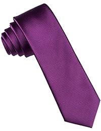 Slim Ties Fashion Men Tie Solid Color WOVEN Neckties 2.36''