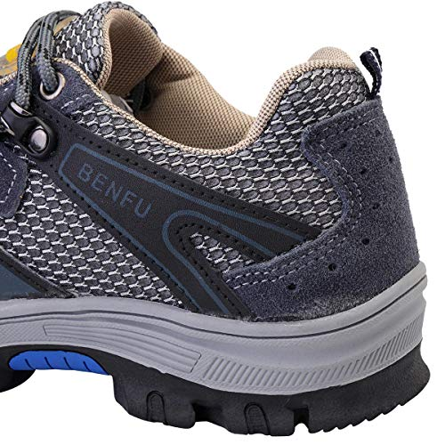 Men's Safety Shoes Steel Toe Work Sneakers Slip Resistant Breathable Hiking Climbing Shoes - 7.5 by Anddoa (Image #3)