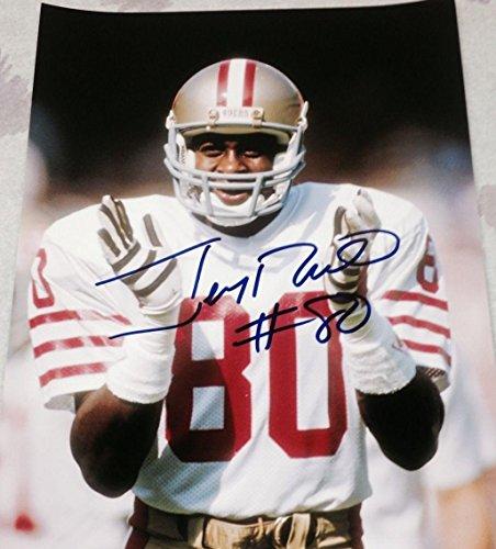 - Signed Jerry Rice Photograph - VINTAGE SF LEGEND 11X14 COA C - Autographed NFL Photos