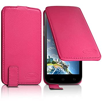 Seluxion - Funda con tapa tapa color rosa Universal S para ...