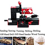 Metal Lathe - Doradus 6 In 1 Multi Metal Mini Wood Lathe Motorized Jig-saw Grinder Driller