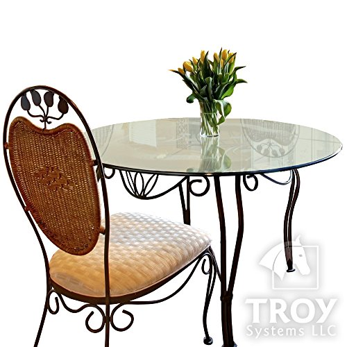 Glass Table Top: 36'' Round, 3/8'' Thick, Pencil Edge, Tempered Glass by TroySys (Image #1)